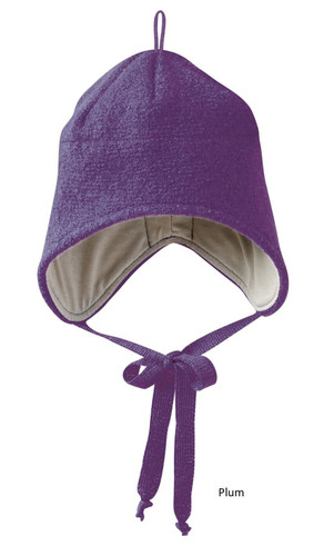 Disana Boiled Wool Hat Plum