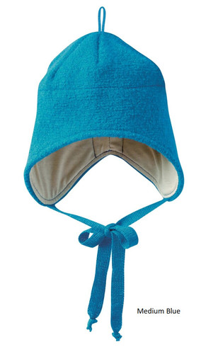 Disana Boiled Wool Hat Medium Blue