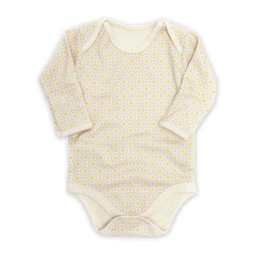 Jasper Long Sleeved Baby Onesie - Pale Yellow