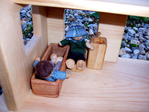 Bathroom Dollhouse Furniture - Wooden Dollhouse Furniture