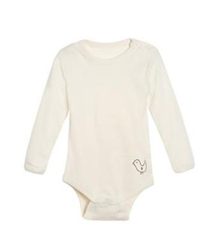 Living Crafts Organic Cotton Long Sleeve Onesie with Snap Closure