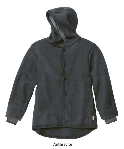 Disana Boiled Wool Jacket Anthracite