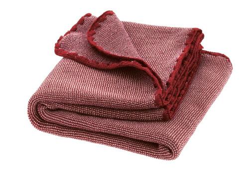 Disana Merino Wool Baby Blanket - Melange Bordeaux/Rose