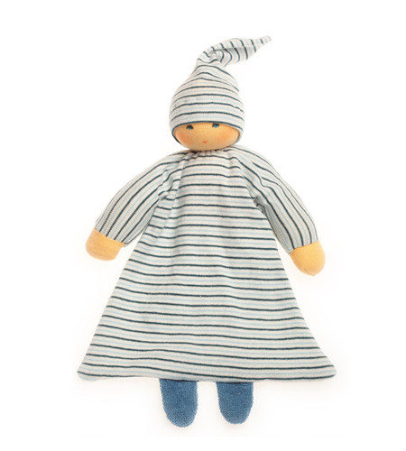 Organic Blanket Doll - Blue