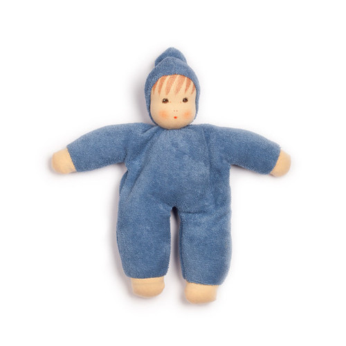 Organic Terry Baby Doll - Blue