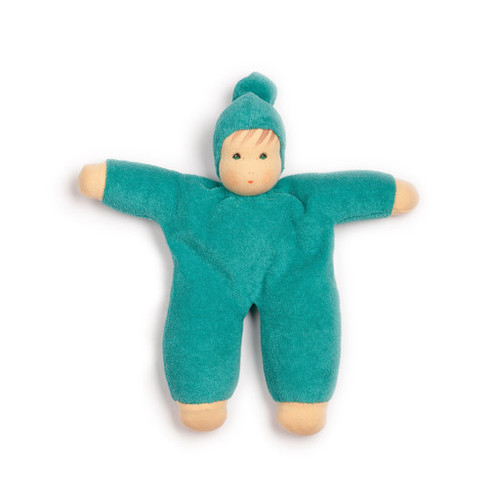 Organic Terry Baby Doll - Turquoise