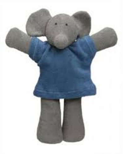 Organic Terry Baby Doll - Elephant
