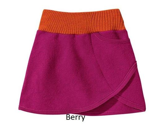 Disana Boiled Wool Skirt Berry