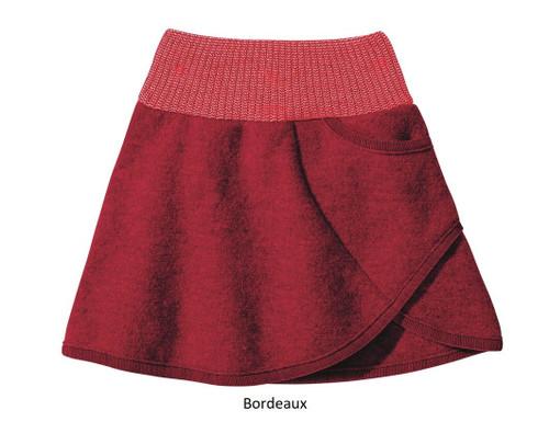 Disana Boiled Wool Skirt Bordeaux