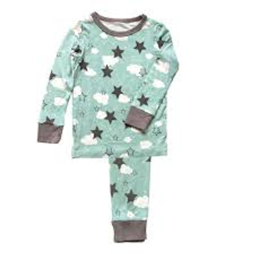 Silkberry Pajama - Shady Mint Star