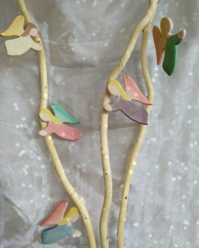 Ostheimer Wooden Angel - Purple