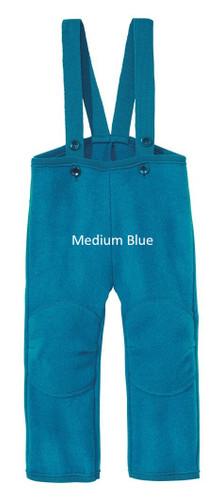 Disana Boiled Wool Trousers Medium Blue
