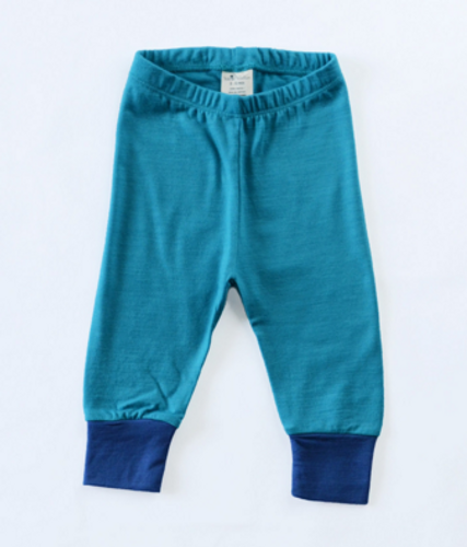 Wee Woollies Merino Pant - Deep Sea Surf