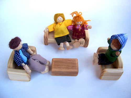 Livingroom Dollhouse Furniture - Wooden Dollhouse Furniture