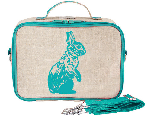 So Young Raw Linen Lunch Box - Bunny