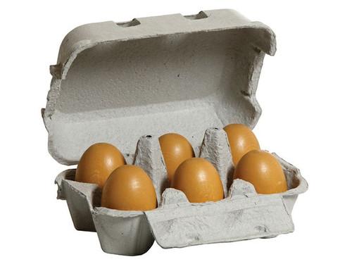 Erzi Wooden Brown Eggs in Carton