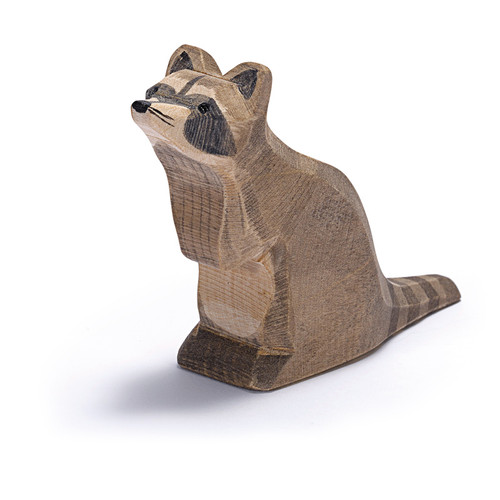 Ostheimer Wooden Raccoon Sitting