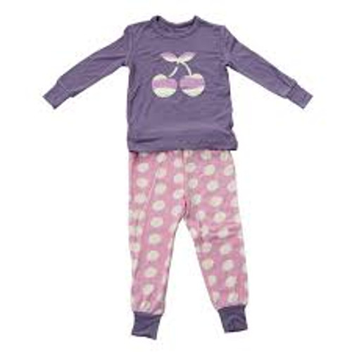 Silkberry Pajama Set - Violet Cherry