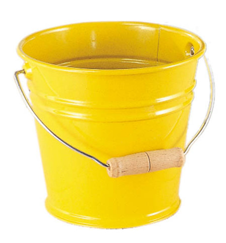 Metal Bucket - Yellow