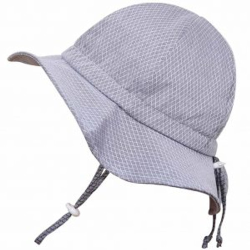 Twinklebelle Cotton Sun Hat - Grey Argyle