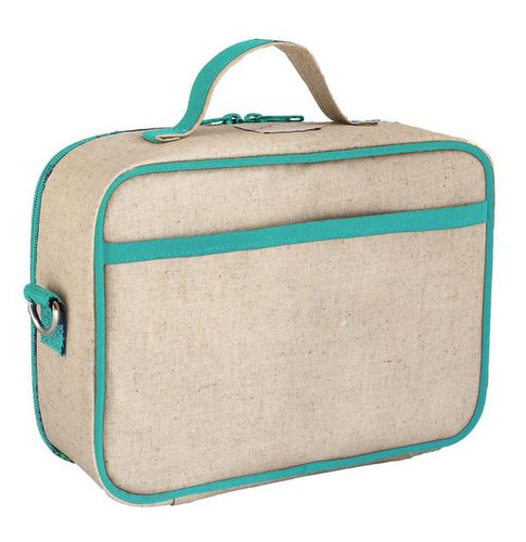 So Young Raw Linen Lunch Box - Olive Fox