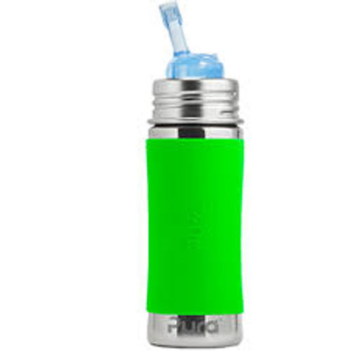 Pura Kiki Straw Bottle - Green Sleeve