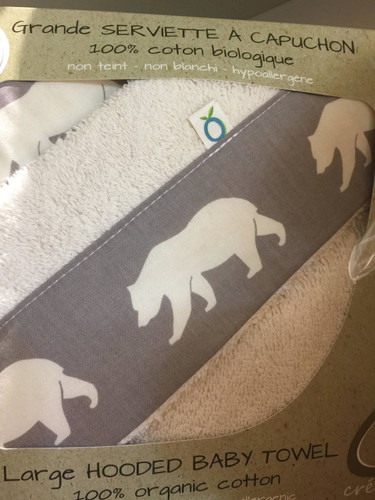 Oko Organic Cotton Hooded Towel - Polar Bear
