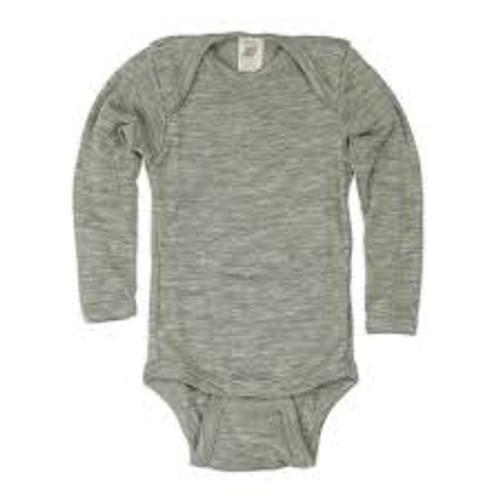Engel Baby Body Snaps Organic Merino Wool/Silk - Grey (up to 3 yrs)