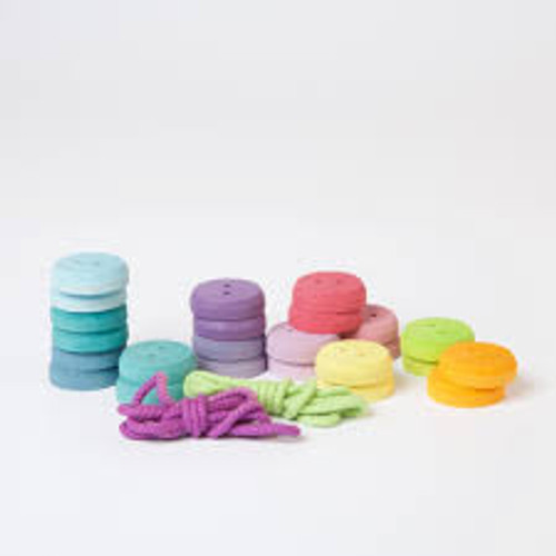 Grimm's Thread Game Small Buttons Pastel