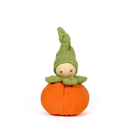 Nanchen Organic Terry Baby Rattle - Pumpkin