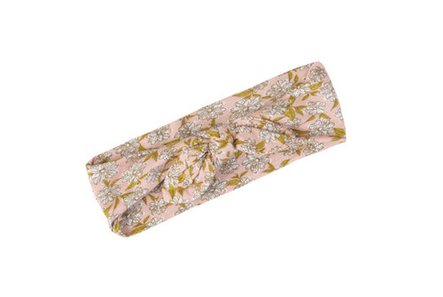 Rose Floral Bow Headband by Milkbarn - Bamboo