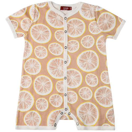 Milkbarn Organic Cotton Overall - Grapefruit