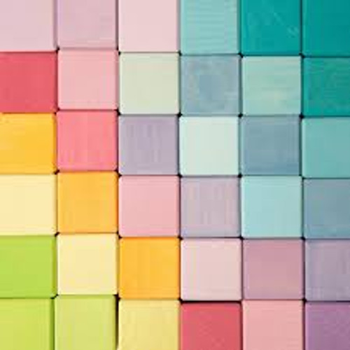 Grimm's Square Blocks - Pastel