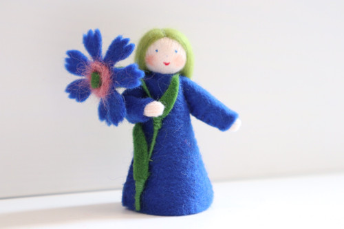 Cornflower with Flower in Hand - Flower Children