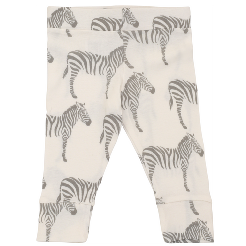 Milkbarn Organic Cotton Legging - Grey Zebra