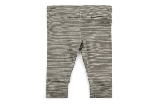 Milkbarn Organic Cotton Legging - Grey Stripe