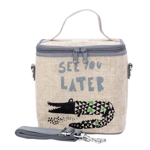 So Young Raw Linen Cooler Bag - Alligator