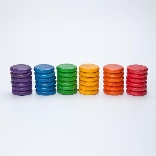 Grapat Rainbow Coins 36 pc (6 Colours)