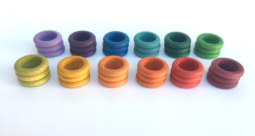 Grapat Coloured Rings 36 pcs