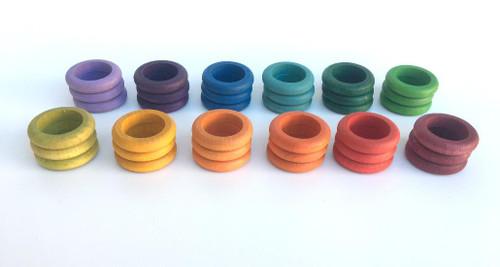 Grapat Coloured Rings 36 pcs