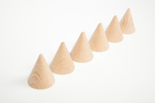 Grapat Wooden Cones Natural 6 pcs