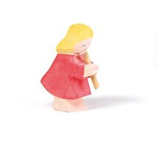 Ostheimer Wooden Girl Playing Flute