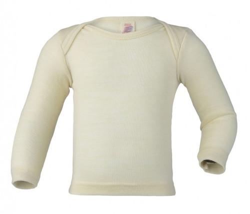 Engel Baby Shirt Organic Merino Wool/Silk - Natural (up to 3T)