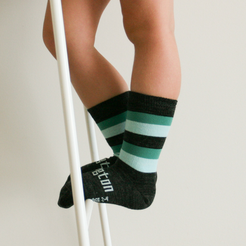 Lamington Crew Length Wool Socks Neptune