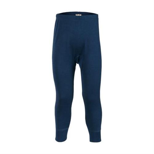 Living Crafts Kids Merino Wool Silk Long Johns - Solid Blue