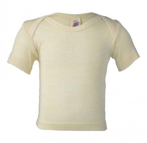 Engel Baby Short Sleeve Shirt Organic Merino Wool/Silk - Natural (up to 3T)
