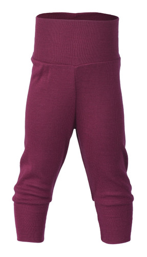 Engel Baby Pants with Waistband in Organic Merino Wool/Silk - Orchid