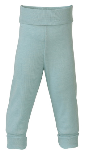 Engel Baby Pants with Waistband in Organic Merino Wool/Silk - Glacier