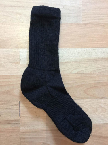 Ladies Medium Mohair Sport Socks (Size 7-9) - Black