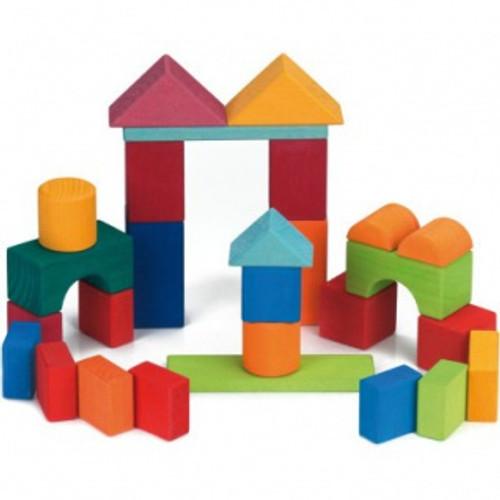 Glueckskaefer 27 Geometric Building Blocks - Multi Coloured
